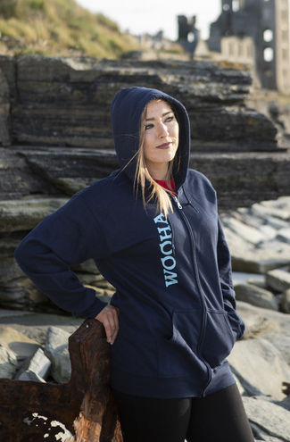 WooHa Zip-Up Navy Hoody